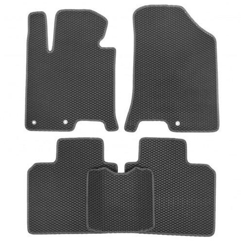 Комплект ковриков для салона ЕВА Dodge Caliber 2006 - 2013 (темно-серый кант)Vicecar