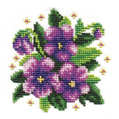 Набор для вышивания KLART Фиалки 13x13 см