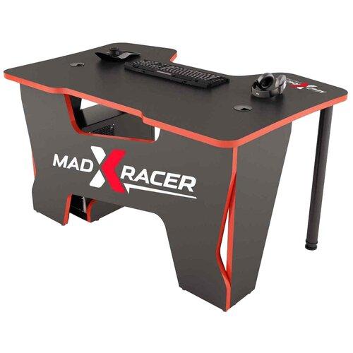 Игровой стол MaDXRacer COMFORT GT, ШхГ: 120х87 см, цвет: черный с красной кромкой