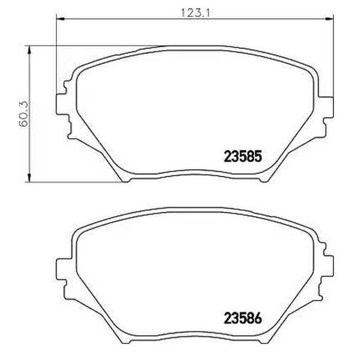 Фото - Комплект тормозных колодок Nisshinbo NP1036 для Toyota RAV 4 II [складские помещения сша] 1 комплект 4 передних 756 d1506 керамических тормозных колодок