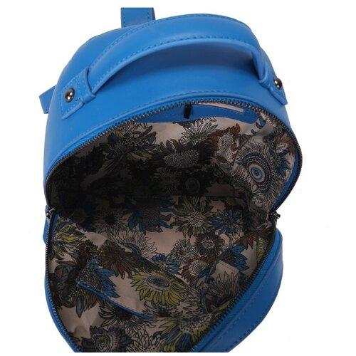 Женский рюкзак из экокожи, цвет небесно-голубой, белый (арт. DW-839/4)