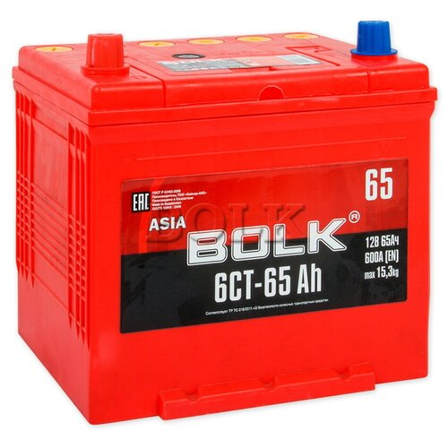 BOLK ABJ651 Аккумулятор BOLK ASIA 65 А/ч прямая L 230x173x220 EN600 А