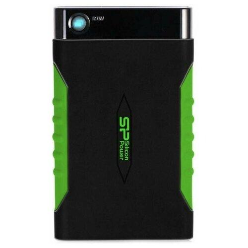 Внешний HDD Siliсon Power 2 TB A15 Armor, чёрный/зелёный, 2.5