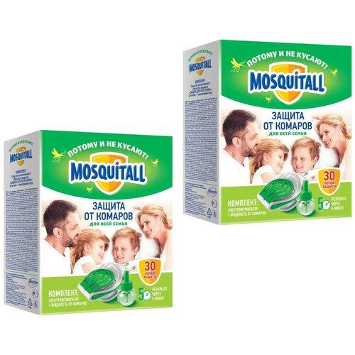 Комплект Фумигатор и жидкость от комаров Mosquitall Защита от комаров для всей семьи 2 упаковки.