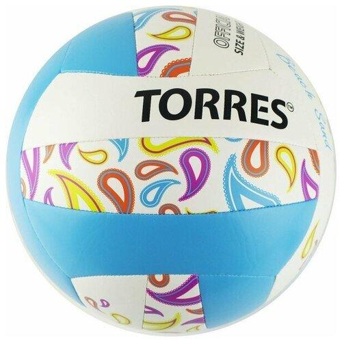 Мяч для пляжного волейбола Torres Beach Sand Blue арт.V32095B р.5