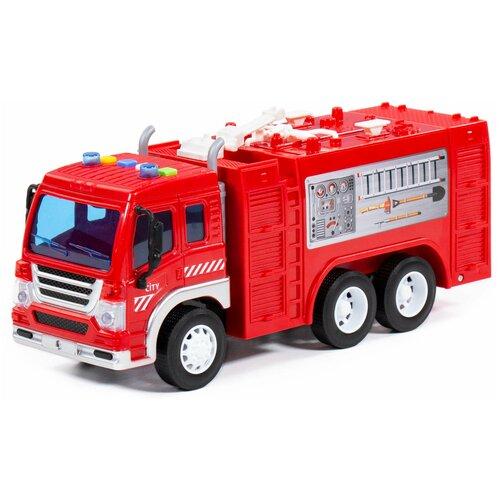 Купить Автомобиль Полесье Сити пожарный инерционный со светом и звуком, Машинки и техника