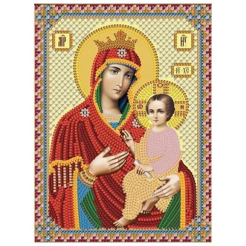NOVA SLOBODA Набор для вышивания бисером иконы Богородица Скоропослушница 13 х 17 см (С6007)