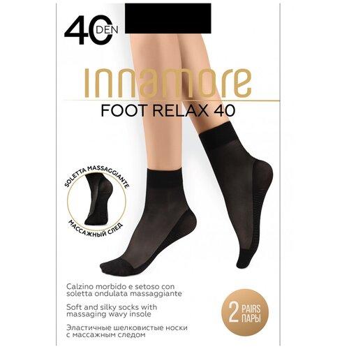 Капроновые носки Innamore Foot Relax 40, 2 пары, размер UNI, nero