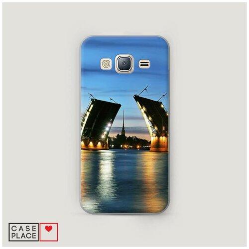 Чехол Пластиковый Samsung Galaxy J3 2016 Разведенные мосты в СПб 2