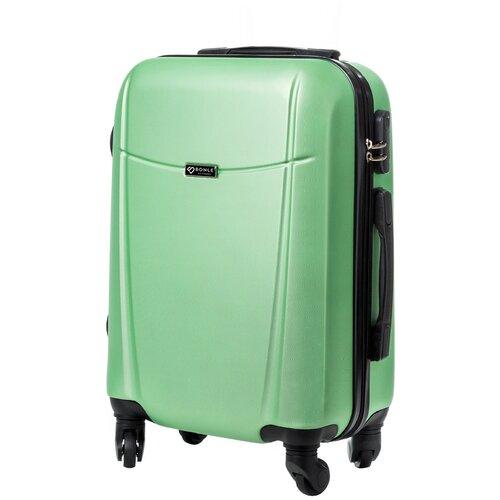 чехол на чемодан 18316 s 55 см Чемодан Bonle, премиум ABS-пластик, Салатовый, размер S, 55 см, 37 л