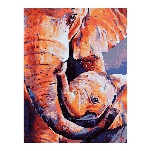 Картина по номерам на холсте Paintboy Счастье слоненка , 40х50 см, GX-35217, Картины по номерам и контурам  - купить со скидкой