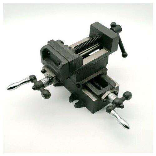 Тиски координатные технореал Q9775 (2х-осевые, 75 мм)