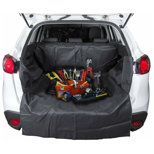 "Накидка защитная ""AvtoTink"", в багажник, цвет: черный, 215 х 120 х 40 см"