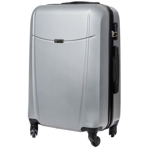 чемодан bonle премиум abs пластик салатовый размер s 55 см 37 л Чемодан Bonle, премиум ABS-пластик, Серебристый, размер M, 65 см, 62 л
