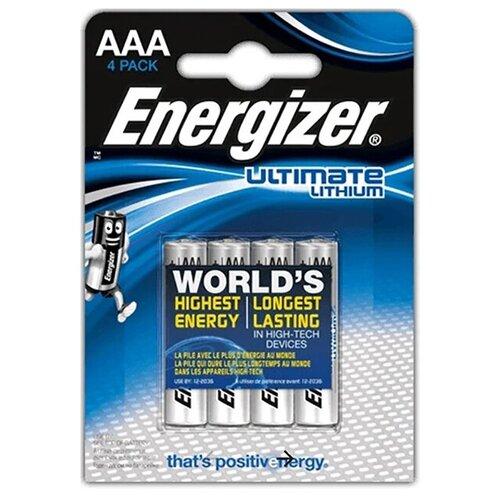 Фото - Батарейка AAA литиевая Energizer Lithium Ultimate FR03-4BL в блистере 4 шт. батарейка energizer max aaa lr03 алкалиновая 4bl