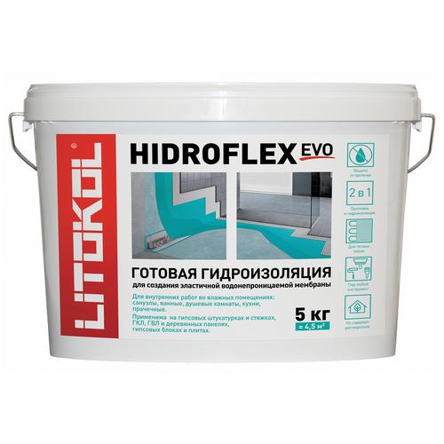 Гидроизоляция готовая LITOKOL HIDROFLEX (литокол гидрофлекс), 5 кг