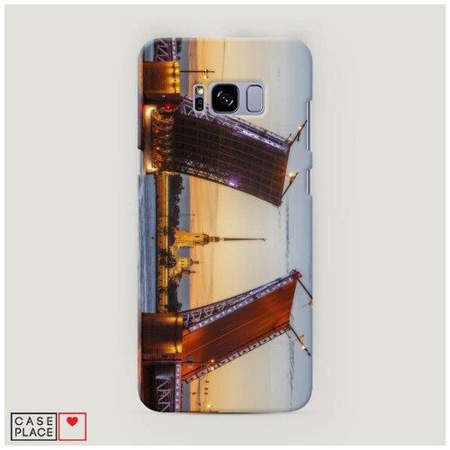 Чехол Пластиковый Samsung Galaxy S8 Plus Разведенные мосты в СПб 1