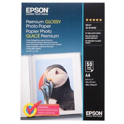 Фото - Бумага для цв.струй печати глянцевая EPSON C13S041624 A4, 255 г/м2, 50 листов бумага epson a4 premium glossy photo paper c13s041624 255г м2 50 лист белый