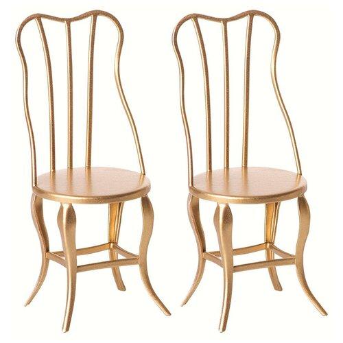 Maileg Винтажный стул Микро 2 шт золотой