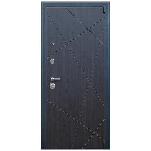 Дверь входная Вектор с зеркалом стальная в квартиру
