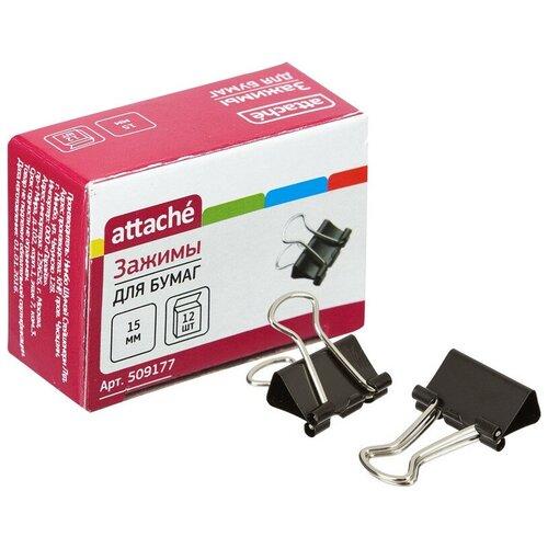 Зажим для бумаг 15мм Attache 12шт/уп Attache, в картонной коробке 4 упаковки