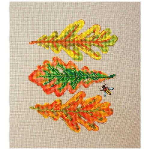 Набор для вышивания Дубовые листья 13 х 17 см марья искусница 16.001.04