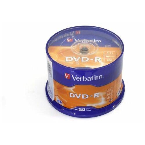 Диск VERBATIM DVD-R 16x 4.7Gb по 50 банка1/4/320