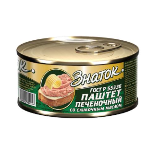Паштет Печёночный со сливочным маслом Знаток ГОСТ -0,230 кг) ключ