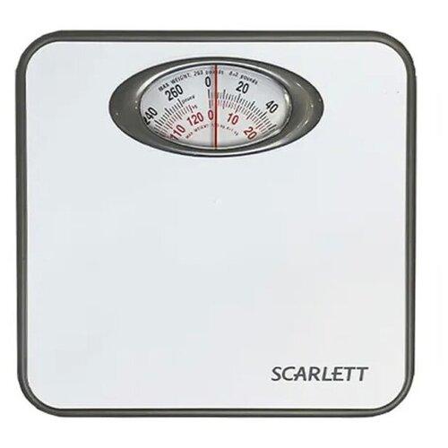 Напольные весы, механические, SCARLETT SC-210, весы домашние, весы для ванной, белый