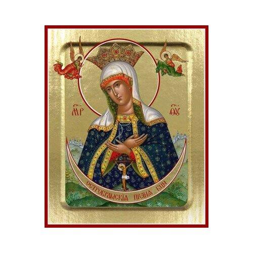 Икона Пресвятой Богородицы Остробрамская на дереве