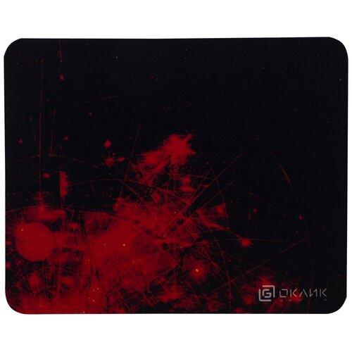 Коврик для мыши Оклик OK-F0252 рисунок/красные частицы
