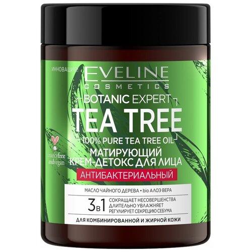 Купить Крем для лица `EVELINE` BOTANIC EXPERT TEA TREE 3 в 1 антибактериальный матирующий 100 мл, Eveline Cosmetics