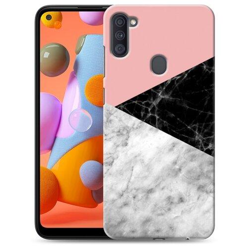 Дизайнерский пластиковый чехол для Samsung Galaxy A11 Мраморные тренды