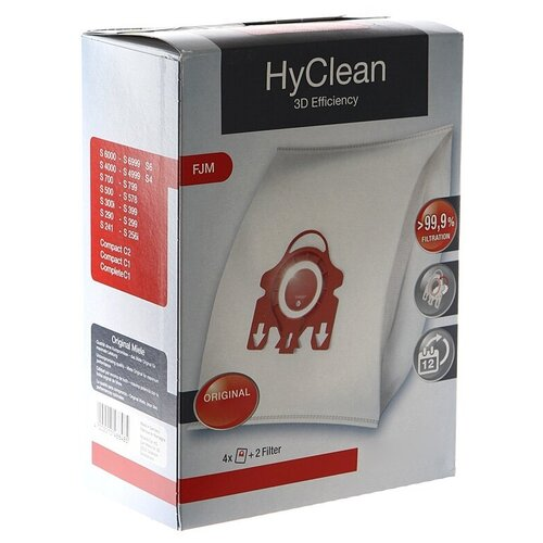 Мешки Miele HyClean 3D Efficiency для пылесоса Miele FJM Red