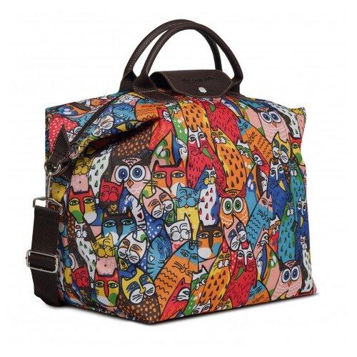 Дорожная сумка Antan, 2-313 коты ч/б цветные мультиколор