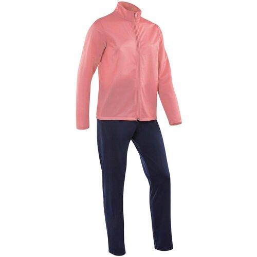 Костюм тренировочный теплый для детей розово-синий GYM'Y DOMYOS Х Decathlon Розовый 160-166CM14-15A