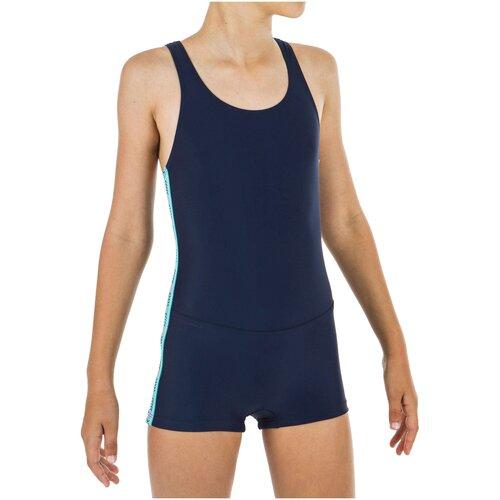 Купальник с шортами слитный, размер: 8 лет (122-128 см)/9 лет (128-134 см), цвет: Синий NABAIJI Х Декатлон