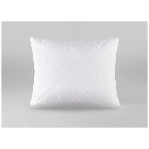 Подушка высокая в стеганом чехле модена / 50 х 70 / Полое силиконизированное полиэфирное волокно