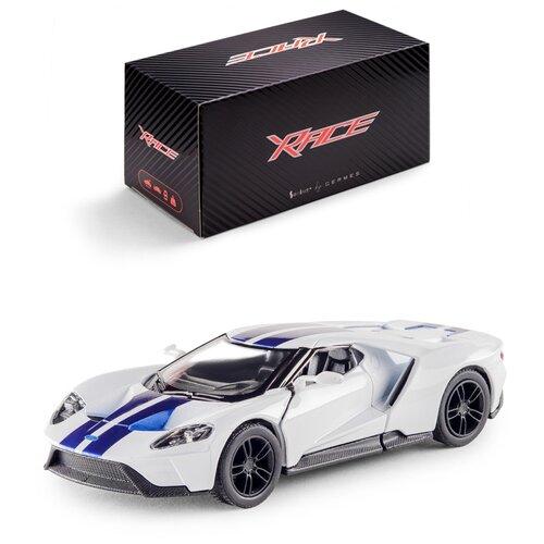 Купить Детская инерционная металлическая машинка Serinity Toys с открывающимися дверями, модель 2017 Ford GT раскрашенный, белый, Машинки и техника