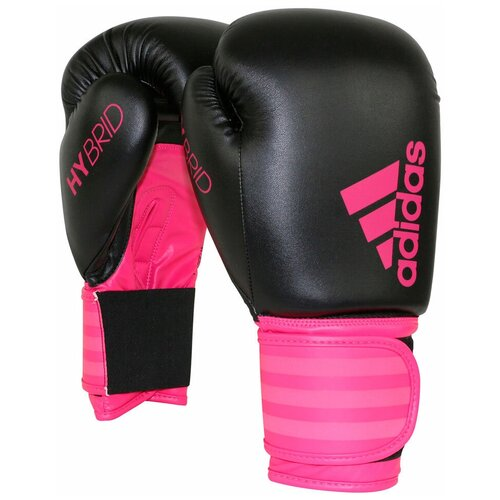Боксерские перчатки adidas Hybrid 100 Dynamic Fit черный/розовый 12 oz