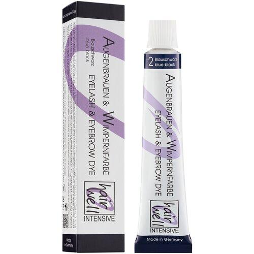 Купить HairWell Краска для бровей и ресниц, 20 мл 2 иссиня-черный
