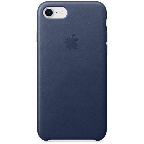 Чехол-накладка Apple кожаный для iPhone 7/iPhone 8/iPhone SE (2020) Midnight blue