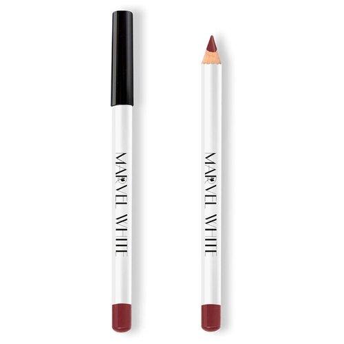 Marvel Cosmetics White Карандаш для губ 425 SHANGHAI (Красный Минерал)