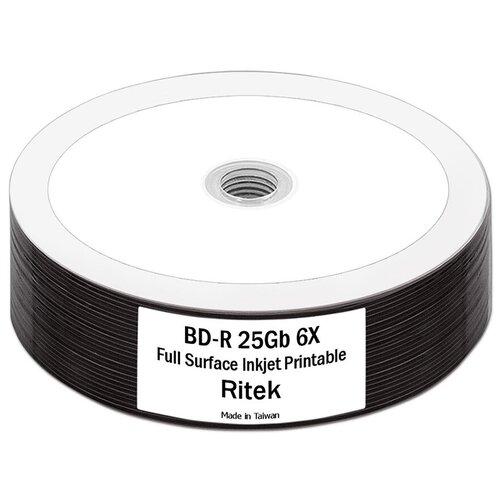 Фото - Диск BD-R 25Gb RiData (Ritek) 6x Full Printable bulk, упаковка 25 штук. диск bd r 50gb cmc 6x full printable bulk упаковка 10 штук