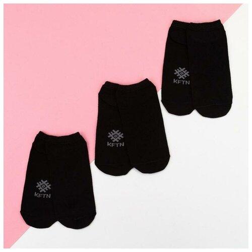 Носки Kaftan Классика, 3 пары, размер 23-25 см (37-39), черный