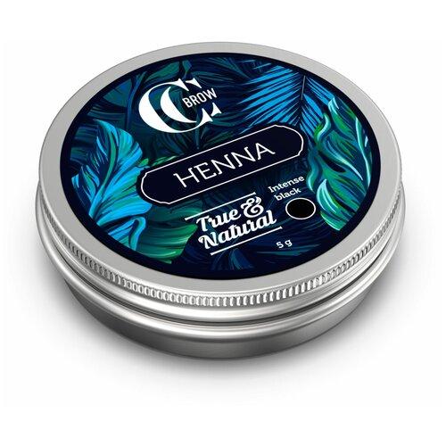 CC Brow Хна для окрашивания бровей и ресниц True&Natural 5 г intense black