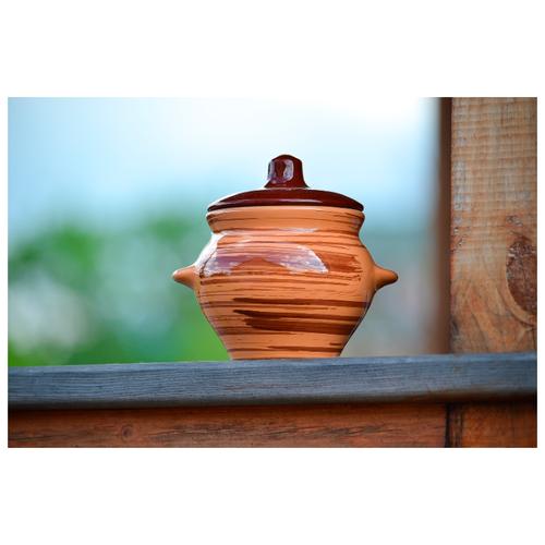 миска для вторых блюд борисовская керамика cтандарт диаметр 18 см Керамический горшок для жаркого. Борисовская керамика. Cтандарт. Полосы, 500 мл