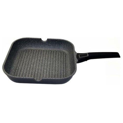Фото - Сковорода-гриль GIPFEL BATISTA 2685, 28x28 см, съемная ручка, серый сковорода gipfel batista 2682 24 см съемная ручка серый