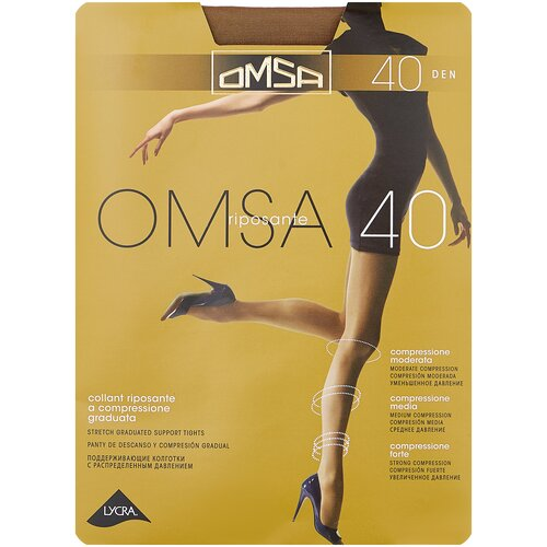 Колготки Omsa Omsa, 40 den, размер 3-M, marrone (коричневый) колготки omsa omsa 40 den размер 4 l marrone коричневый