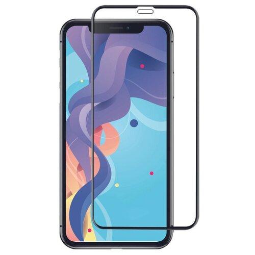 Ударопрочное стекло для телефона Apple iPhone X, iPhone XS и iPhone 11 Pro / Защитное стекло на Эпл Айфон Х, Айфон Хс и Айфон 11 Про / 20D Premium Glass (Черный)